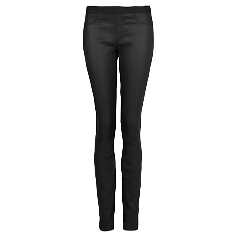 Buy Mango Coated Jeggings, Black Online at johnlewis.com