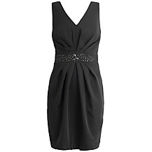 Buy Almari V-neck Embellished Dress, Black Online at johnlewis.com