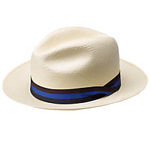 Buy Olney Drop Brim Panana Hat, Natural Online at johnlewis.com