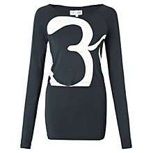 Buy Manuka Half Moon Graphic Long Sleeve Top, Blue Online at johnlewis.com