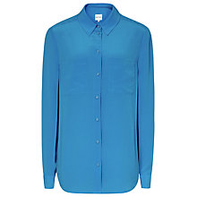 Buy Reiss Cassidy Long Sleeve Blouse, Blue Online at johnlewis.com