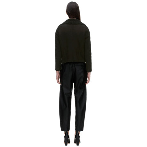 Buy Whistles Billie Sheepskin Jacket, Black Online at johnlewis.com