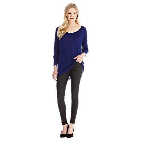 Buy Oasis Pointelle Jumper, Blue Online at johnlewis.com