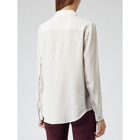 Buy Reiss Cassidy Long Sleeve Blouse, Stone Online at johnlewis.com