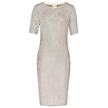 Buy Reiss Abellia Shift Dress, Metallic Online at johnlewis.com