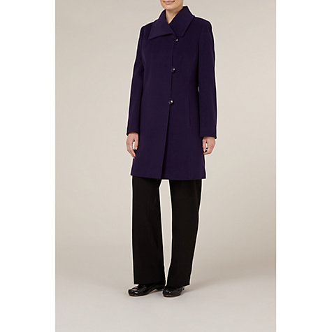 Buy Windsmoor Mid-Length Asymmetric Coat, Damson Online at johnlewis.com