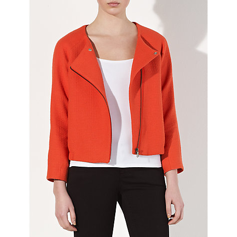 Buy Kin by John Lewis Tweed Bomber Jacket, Orange Online at johnlewis.com