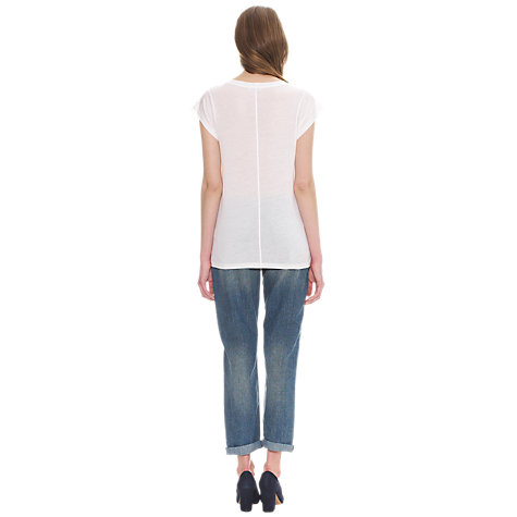 Buy Whistles Faye Seam Back T-Shirt Online at johnlewis.com