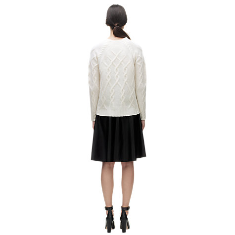 Buy Whistles Angora Mix Turtle Neck Jumper, Ivory Online at johnlewis.com