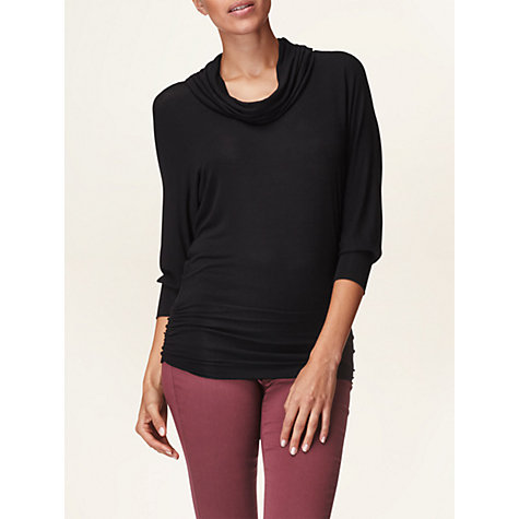 Buy Phase Eight Drapey Dana Cowl Top, Black Online at johnlewis.com
