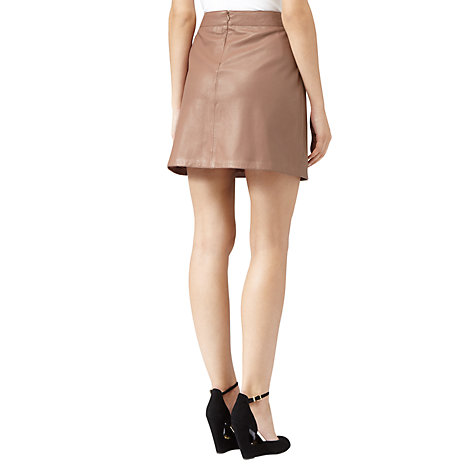 Buy Reiss Oakley Leather Mini Skirt Online at johnlewis.com