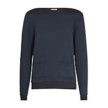 Buy Reiss Dijon Quilted Jumper, Navy Online at johnlewis.com