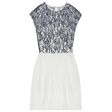 Buy Reiss Katlun Lace Dress, Navy/Cream Online at johnlewis.com