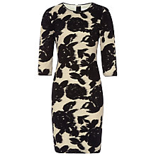 Buy Reiss Lavine Flower Bodycon Dress, Black Online at johnlewis.com