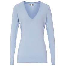 Buy Reiss Mera Merino Blend Jumper, Pale Blue Online at johnlewis.com
