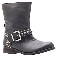 Buy Carvela Tammy Leather Studded Calf Boots, Black Online at johnlewis.com