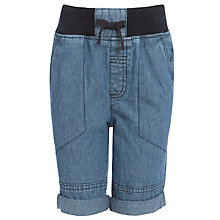 Buy John Lewis Boy Ribbed Waistband Denim Shorts, Blue Online at johnlewis.com