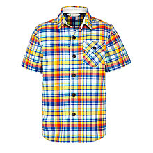 Buy John Lewis Boy Short Sleeve Check Shirt, Multi Online at johnlewis.com