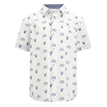 Buy John Lewis Boy Elephant Print Shirt, White Online at johnlewis.com