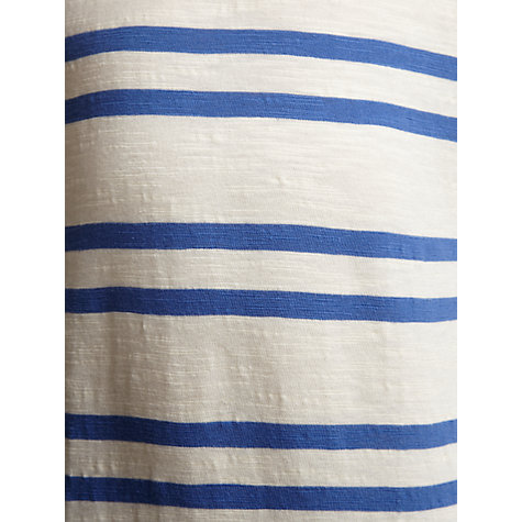 Buy John Lewis Boy Double Stripe T-Shirt, Blue/Cream Online at johnlewis.com