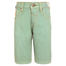 Buy John Lewis Boy Knee Length Denim Shorts, Green Online at johnlewis.com