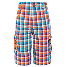 Buy John Lewis Boy Check Combat Shorts Online at johnlewis.com