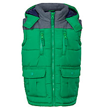 Buy John Lewis Boy Wilson Gilet, Green Online at johnlewis.com