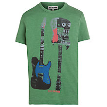 Buy Ben Sherman Boys' Guitar Print T-Shirt, Green Online at johnlewis.com