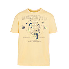 Buy Ben Sherman Boys' Scooter Print T-Shirt, Yellow Online at johnlewis.com
