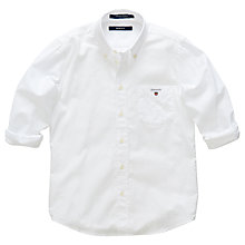 Buy Gant Boys' Yale Oxford Shirt, White Online at johnlewis.com