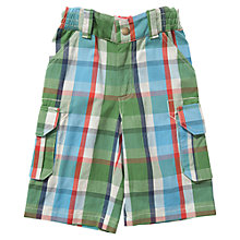 Buy Frugi Boys' Check Shorts, Green/Multi Online at johnlewis.com