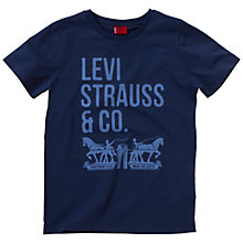 Buy Levi's Boys' Nigel T-Shirt, Navy Online at johnlewis.com