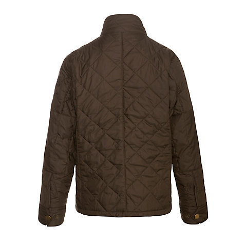 Buy Barbour Boys' Mulholland Quilted Jacket, Olive Online at johnlewis.com