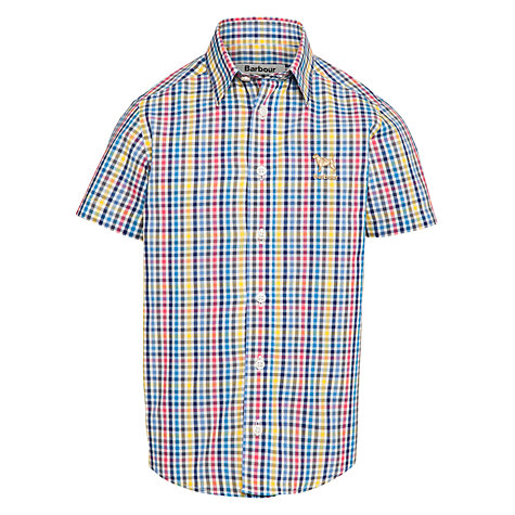 Buy Barbour Boys' Checked Short Sleeve Shirt, Multi Online at johnlewis.com