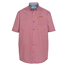 Buy Ben Sherman Boys' Geo Print Short Sleeve Shirt, Red Online at johnlewis.com