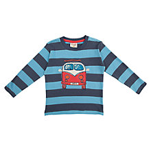 Buy Frugi Boys' Stripe Campervan T-Shirt, Indigo Online at johnlewis.com