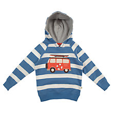 Buy Frugi Boys' Campervan Applique Hoodie, Blue/Cream Online at johnlewis.com