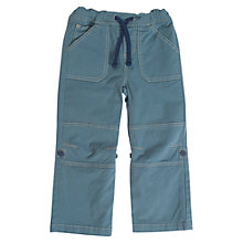 Buy Frugi Boys' Sailor Roll-Up Trousers, Blue Online at johnlewis.com