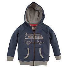 Buy Frugi Boys' Zip Through Campervan Hoodie, Indigo Online at johnlewis.com