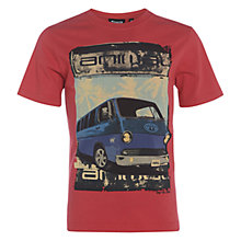 Buy Animal Boys' Hadi Campervan Graphic T-Shirt, Tomato Red Online at johnlewis.com