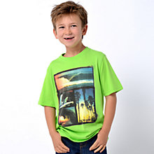 Buy Animal Boys' Hudders Graphic Collage T-Shirt, Lime Online at johnlewis.com