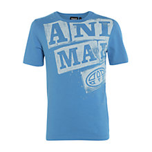 Buy Animal Boys' Huston Graphic Print T-Shirt, Blue Online at johnlewis.com