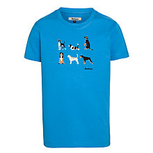 Buy Barbour Boys' Wells Dogs T-Shirt, Blue Online at johnlewis.com