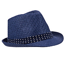 Buy John Lewis Boy Trilby Hat, Navy Online at johnlewis.com
