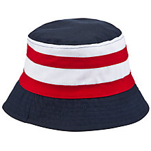 Buy John Lewis Boy Colour Block Fisherman's Hat, Red/Navy Online at johnlewis.com