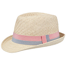 Buy John Lewis Boy Trilby, Natural Online at johnlewis.com
