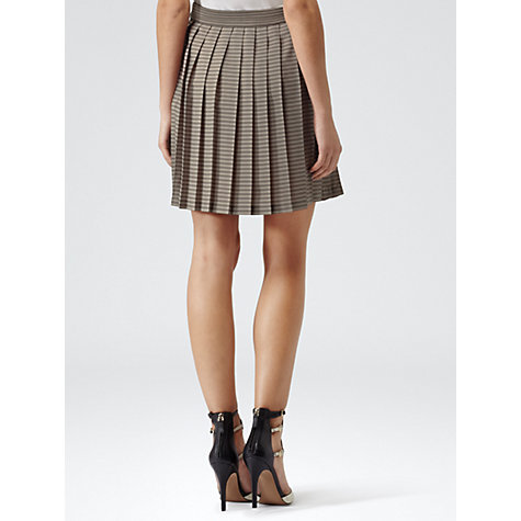 Buy Reiss Sienne Stripe Pleated Skirt, Sage Online at johnlewis.com
