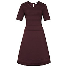 Buy Reiss Anabell Short-Sleeve Jersey Dress, Burgundy Online at johnlewis.com