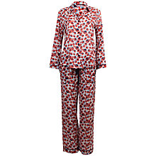 Buy Cyberjammies Poppy Print Pyjama Set, Red / Blue Online at johnlewis.com