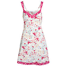 Buy John Lewis Gardenia Floral Chemise, Ditsy Floral Online at johnlewis.com